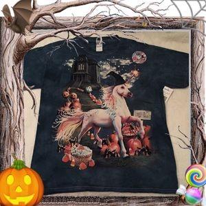 3/$15 Unicorn Pumpkins Halloween Graphic Tee ⛵️🏝